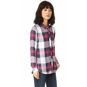 Rails Hunter Plaid Shirt White Indigo Blush